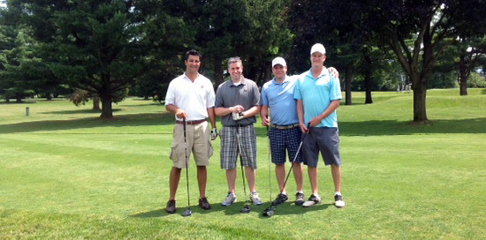 1st place winners, Team Shea: Chris Mitchell, Larry Shea, Gavin McGeehan, Colin Butryn