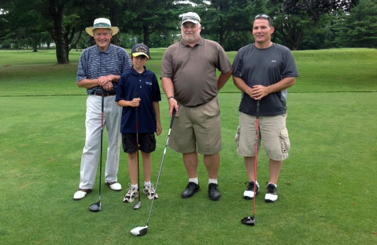 2nd place winners, Steve Keppel, Jr., Mark Keppel, Stephen J. Keppel, Emmanuel Keppel