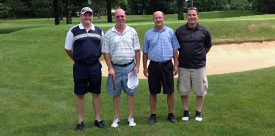 3rd place winners, The Dream Team: Jim Hesburgh, Ted Hesburgh, Bill Kennedy, Tony Giannone