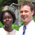 2006 Haiti scholarship winner with Stephen Keppel (Jim's younger brother)