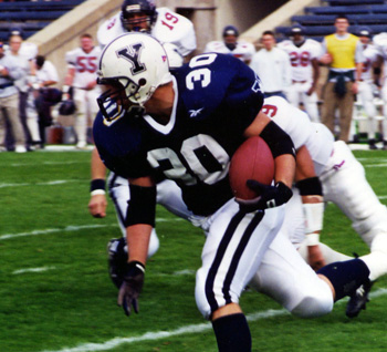 Jim in action - Yale football